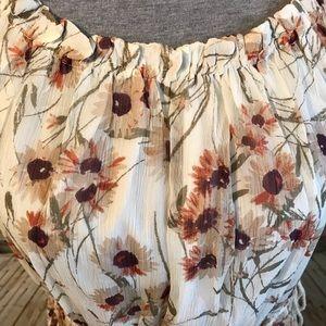 a76fb7aabf69 Lucky Brand Dresses - Lucky Brand Carmen Neutral Chiffon Floral Dress L